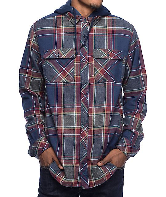 Empyre Leonard Hooded Flannel Shirt | Hooded flannel and Flannel ...