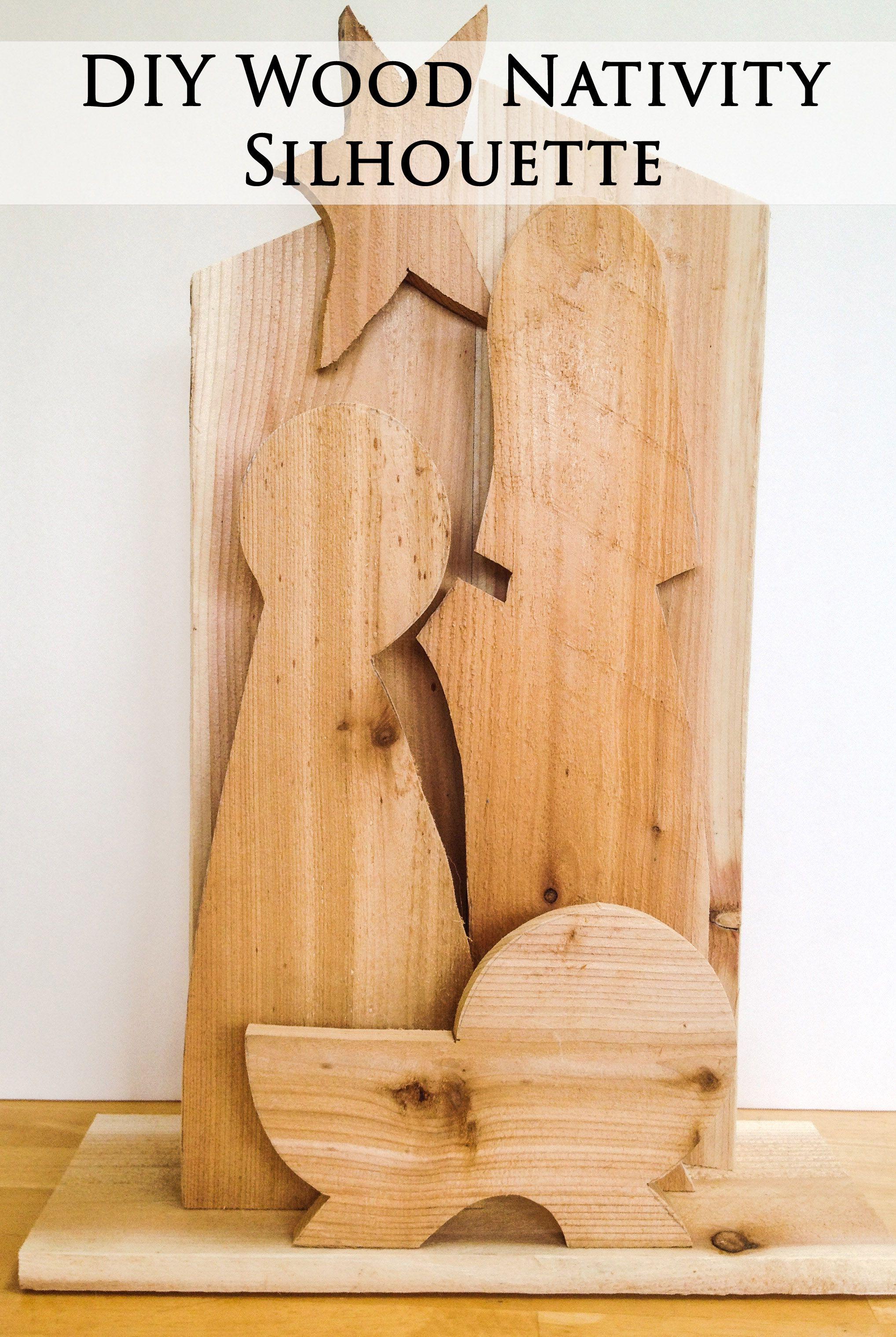 DIY Silhouette Wood Nativity Christmas wood, Nativity