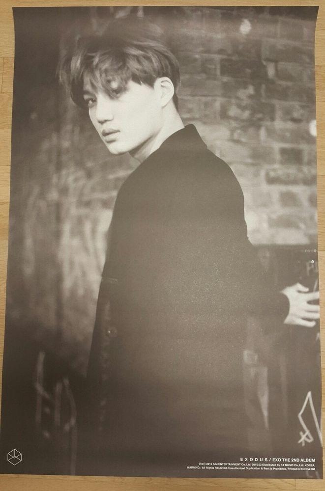 "EXO ""EXODUS"" KAI Official Poster 2nd Album Tube Case Unfolded"