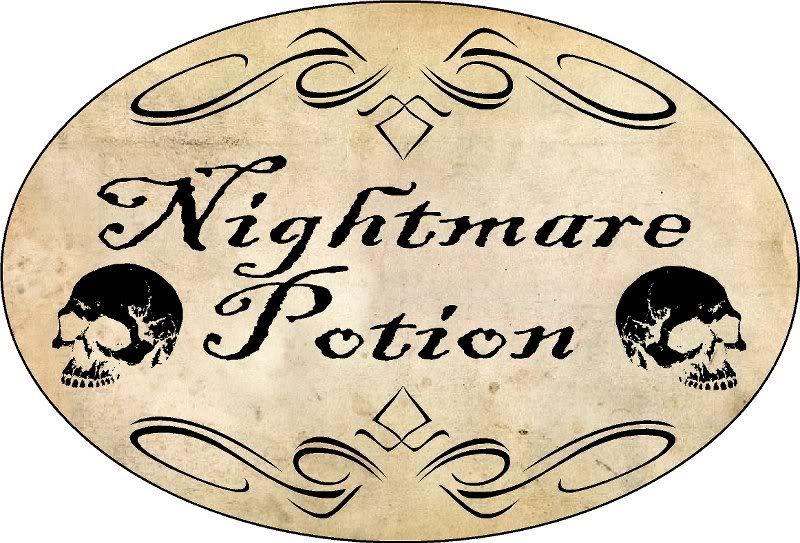 nightmare potion label
