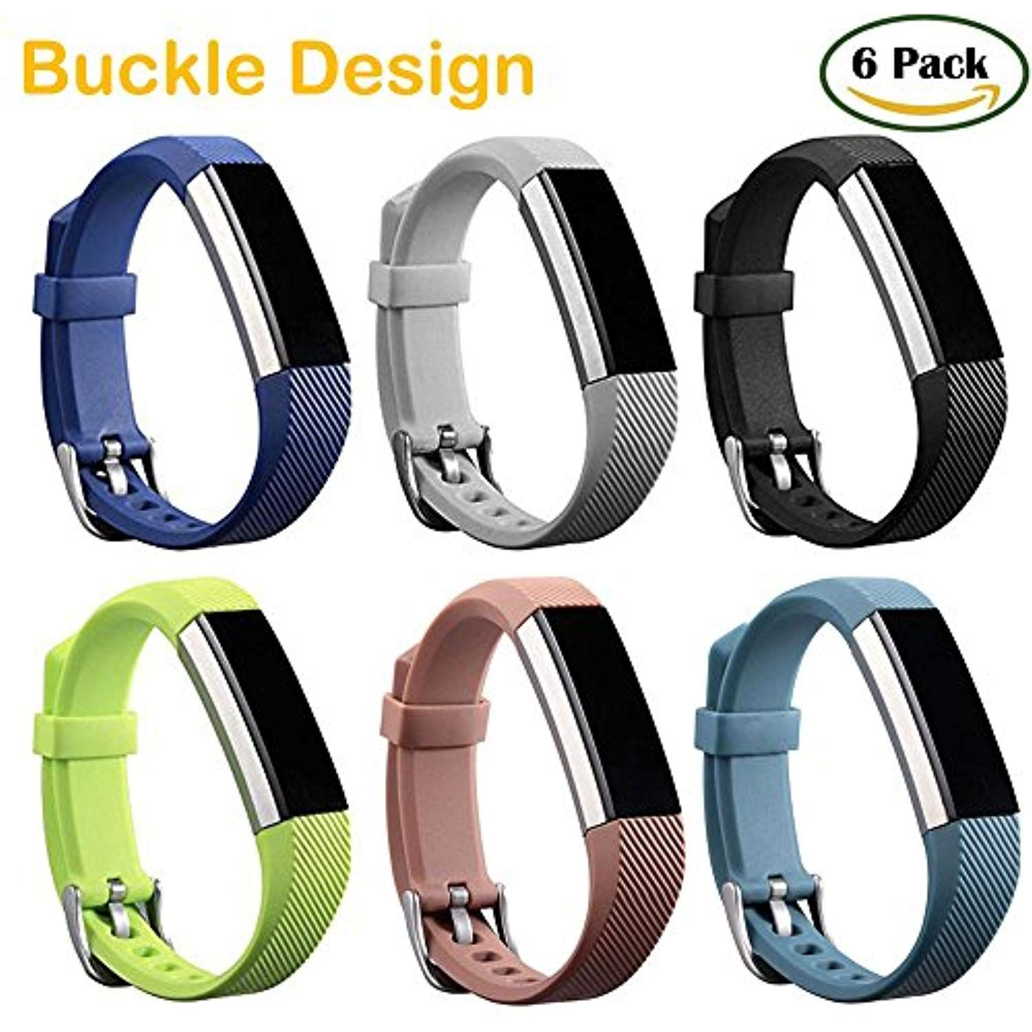 HWHMH Colorful Silicone Replacement Secure Band with Chrome