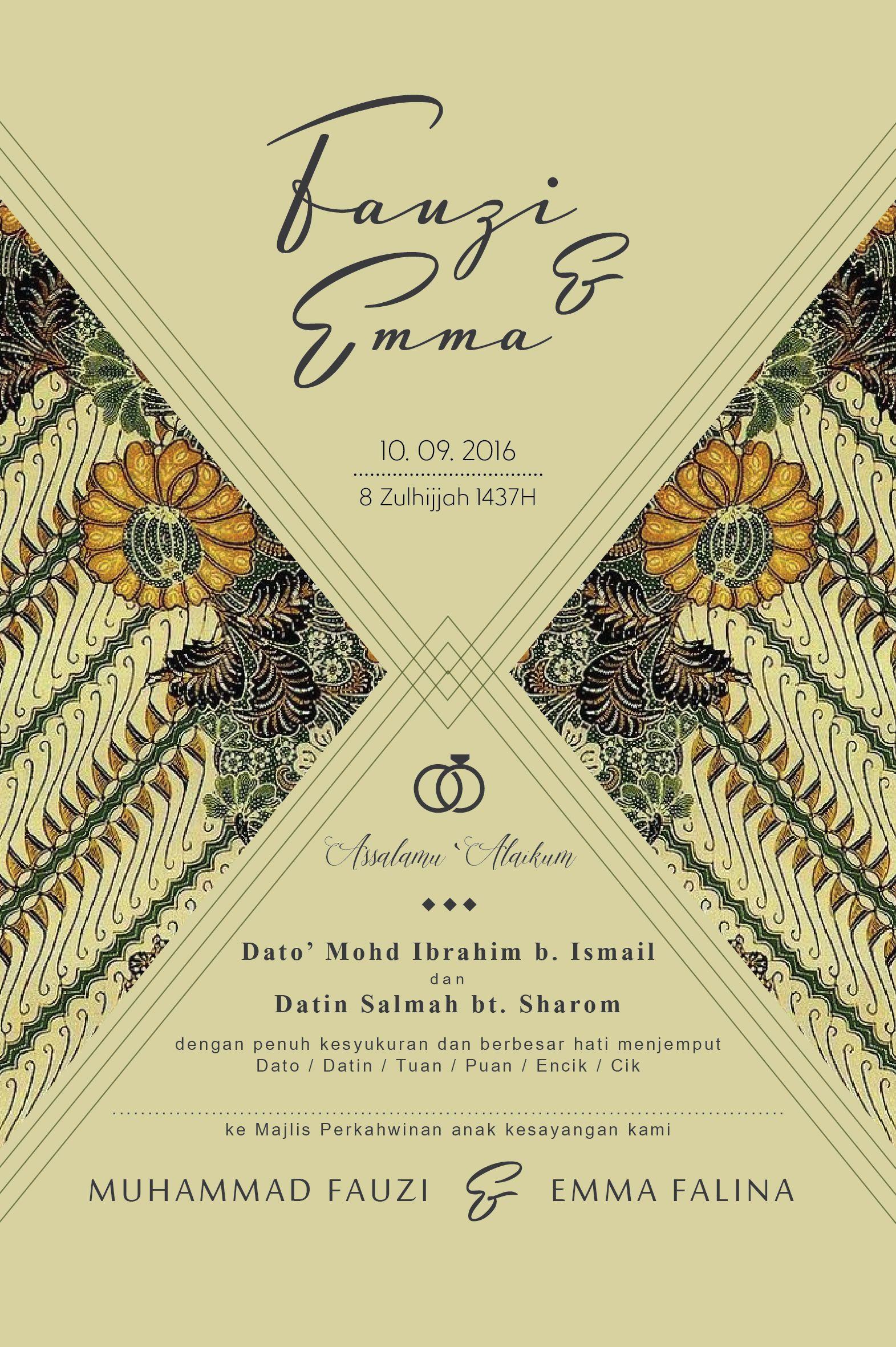Melayu Klasik Invitation Card Wedding Cards Classic Invitation Classic Wedding Invitations