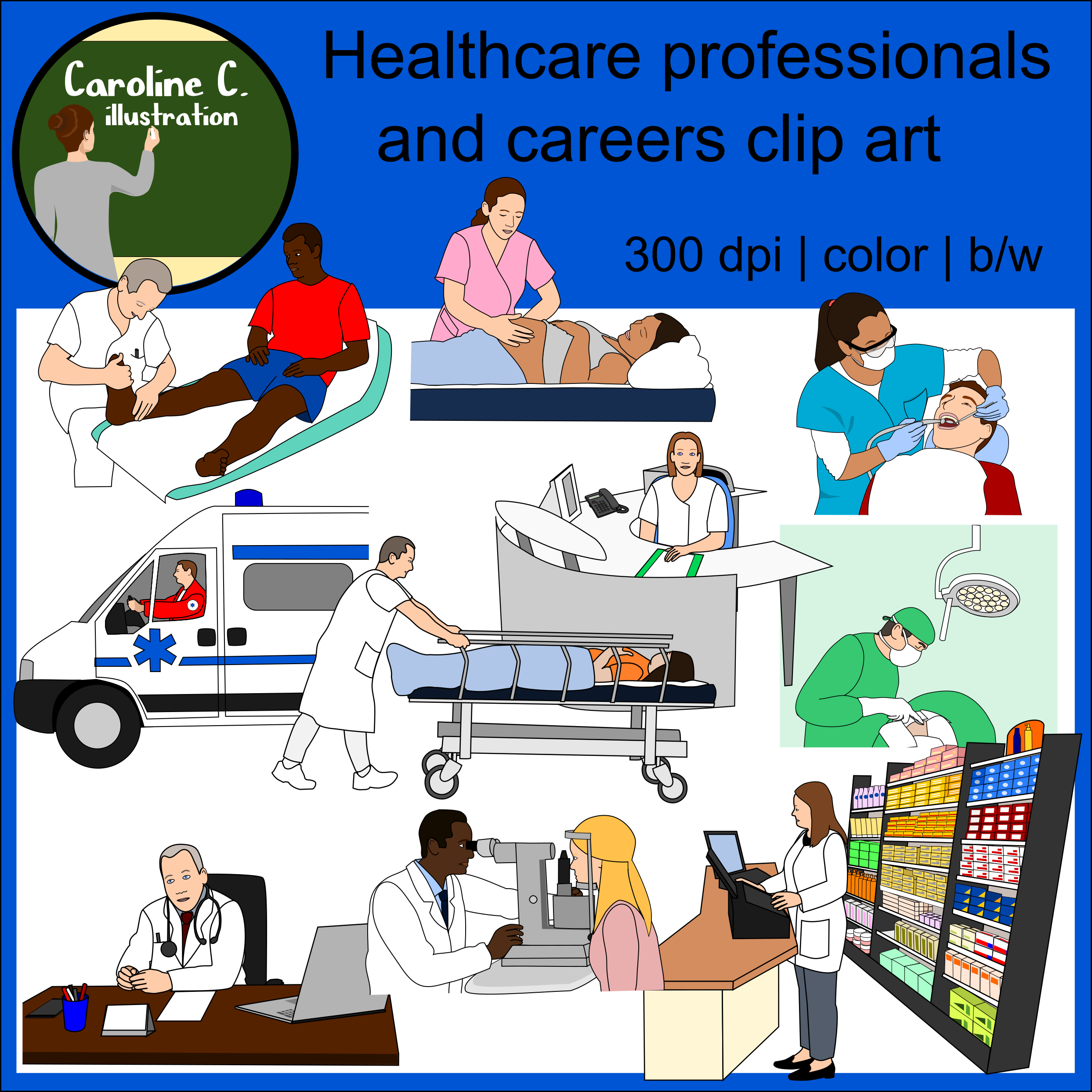 Healthcare Professionals and Careers Clip Art Healthcare