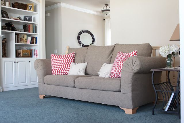 Some tricky little ways to upholster your next projectme super great couch redo lots of pics do it yourself divas diy strip fabric from a couch and reupholster it pinned for the refurb of cushions only solutioingenieria Choice Image