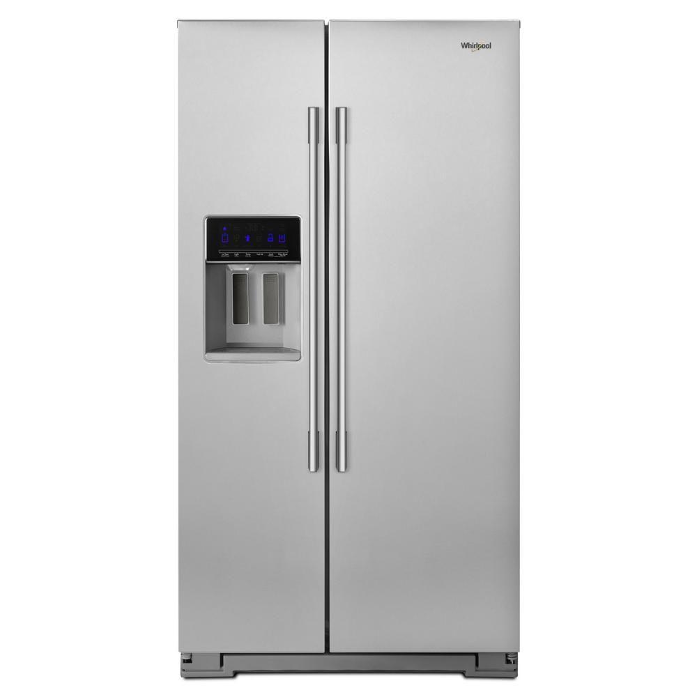 Whirlpool 21 Cu Ft Side By Side Refrigerator In Fingerprint