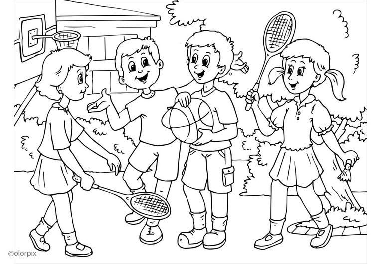 Disegno Da Colorare A01 Amicizia Regole Scuola