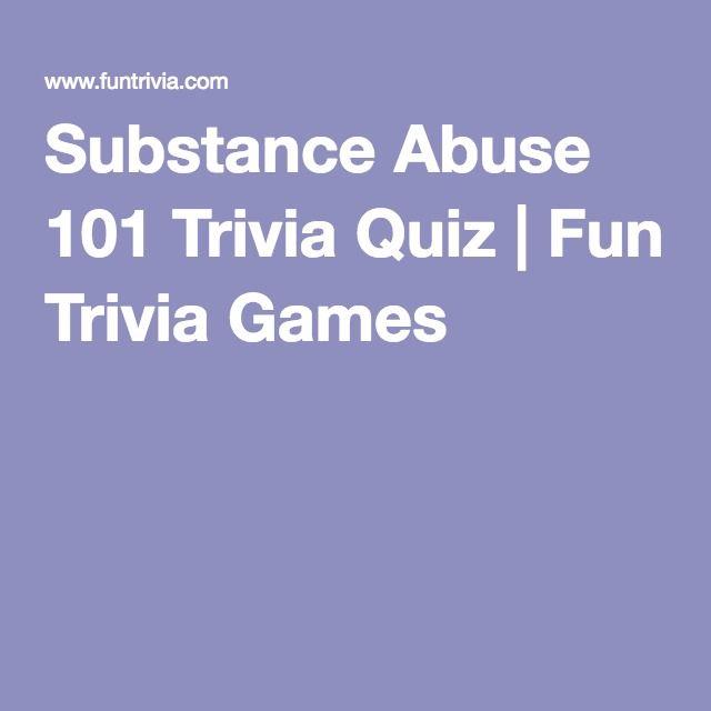 Substance Abuse 101 Trivia Quiz   Fun Trivia Games