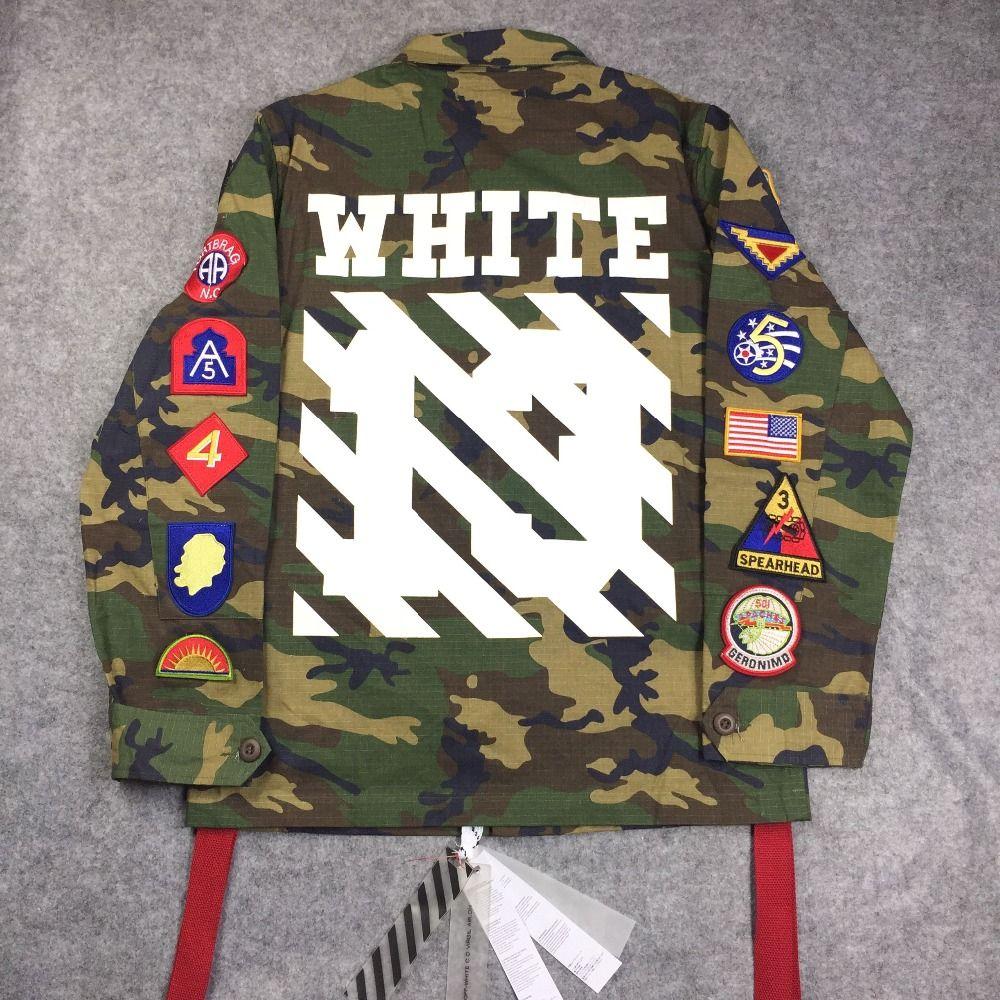 4bfe5803cf9a 2015 mens winter designer korean clothes coat kryptek camouflage camo army  military jacket off white virgil abloh(China (Mainland))