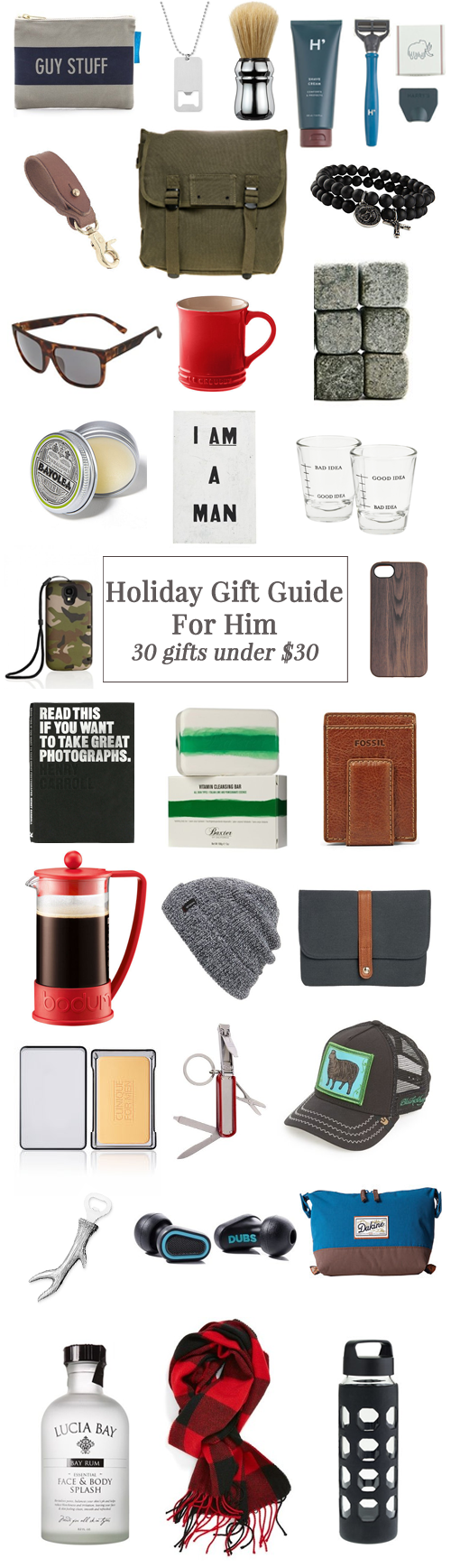 holiday gift guide for him 30 gifts under 30