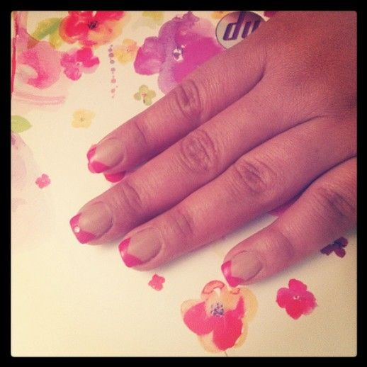 French manicure with a twist..perfect for spring! #NailCall
