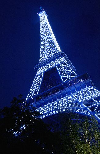 Blue Eiffel Tower | Paris by 64iso, via Flickr. #french #night #Sewcratic