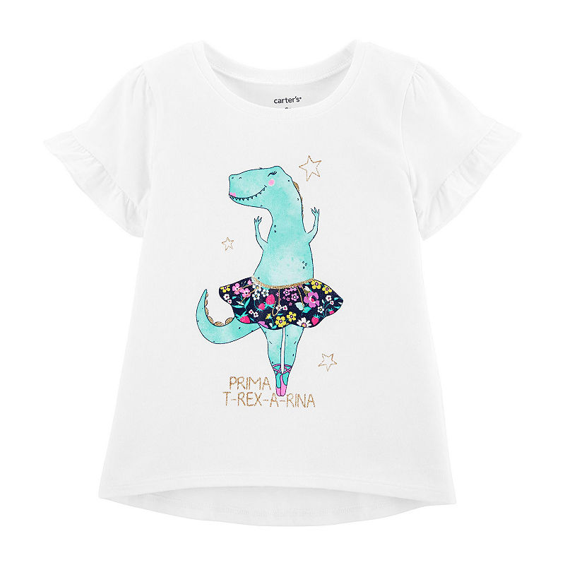 f2be68ec Carter's Glitter Dinosaur Ballerina Hi-Lo Tee - Toddler Girl in 2019 ...