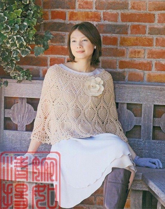 Maravilhas do Crochê: Poncho de Crochê_Modelo Japonês | Crochet I ...
