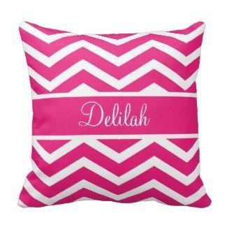 Pink Chevron Pattern Pillows | Pretty Throw Pillows | Pretty Throw Pillows