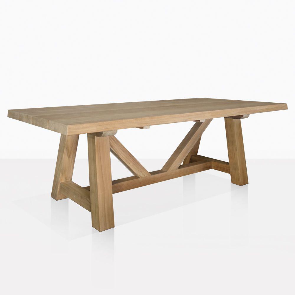 Devon Agrade Teak Dining Table Angle Outdoor Dining Table Teak Dining Table Teak Outdoor