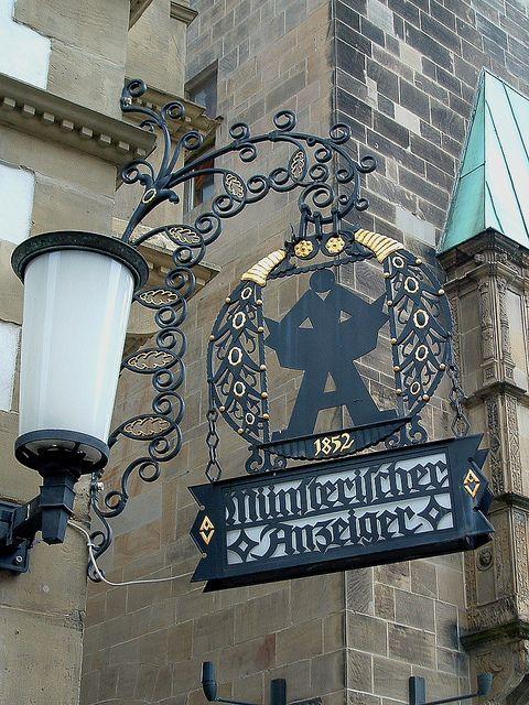 Münsterischer Anzeiger Nasenschild by Dandelion And Burdock, via Flickr