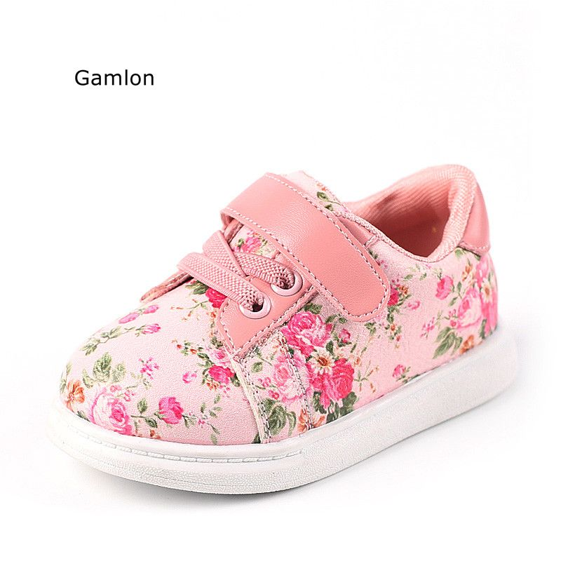 Gamlon babys sneakers 2018 autumn small floral girls baby
