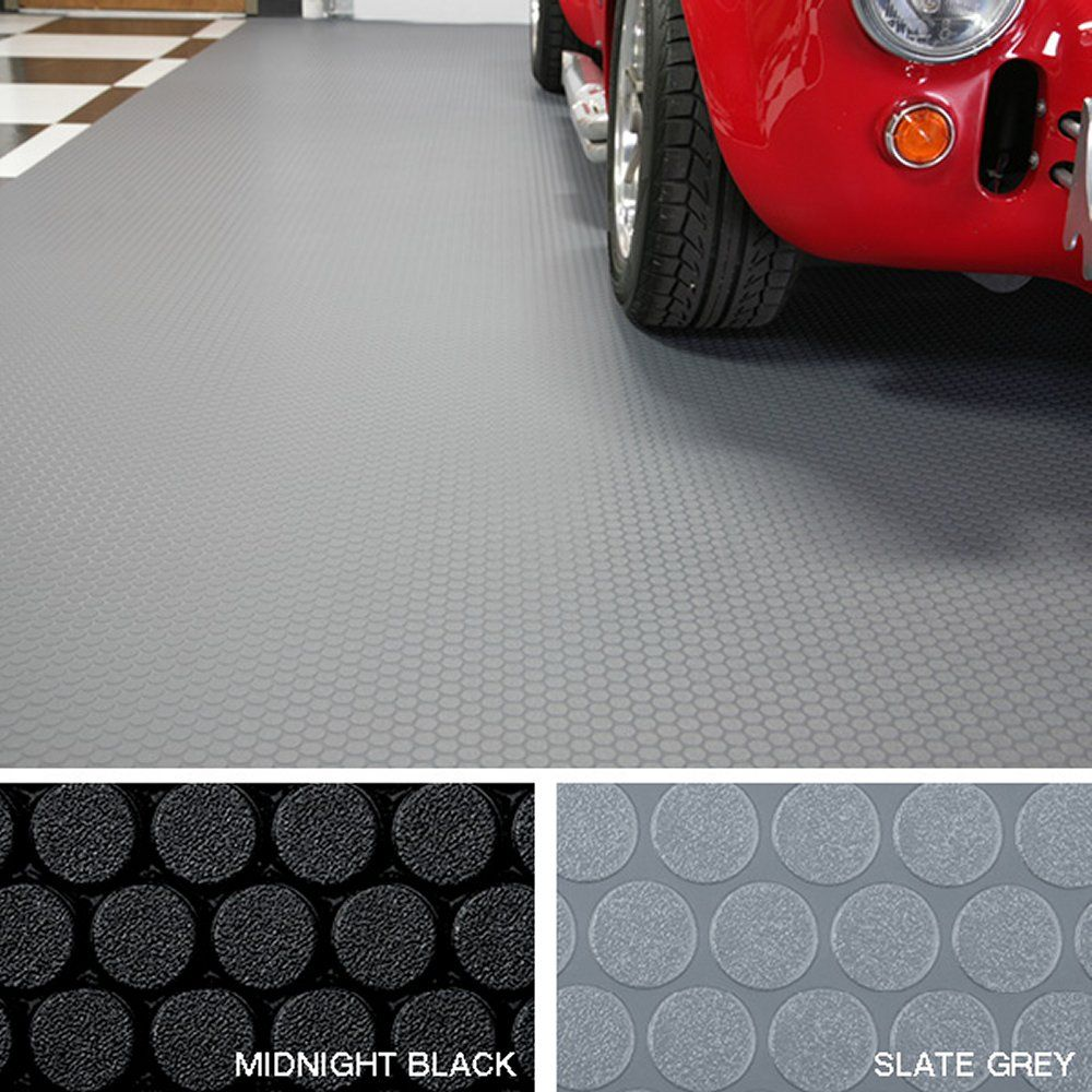 G Floor Small Coin Roll Out Vinyl Floor Covering Comes In Black Or Grey Made In Usa Lifetime Manuf Vinyl Garage Flooring Rubber Floor Tiles Vinyl Flooring