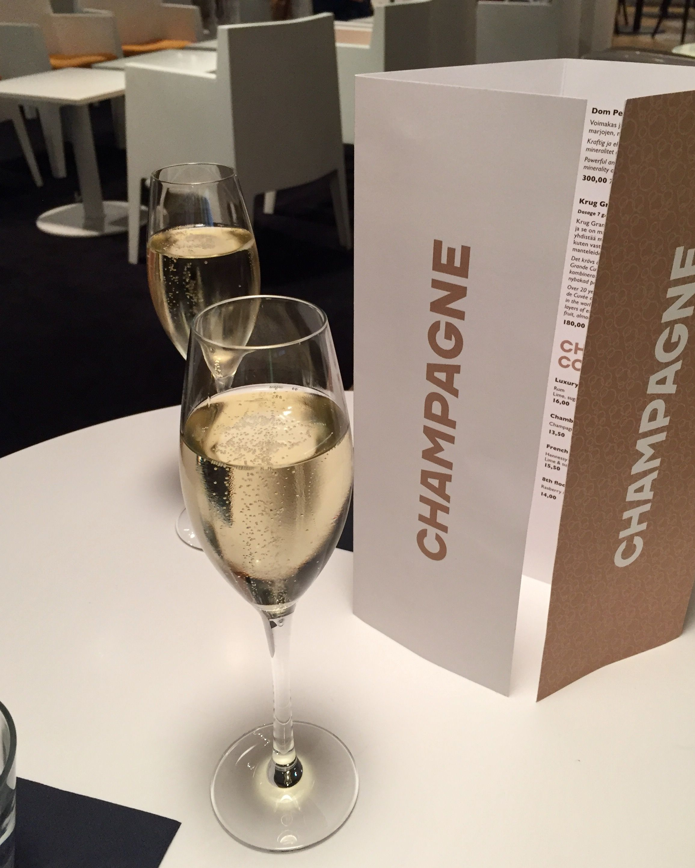 Champagne Ruinart At Stockmann 8th Floor Bar Wines Alcoholic