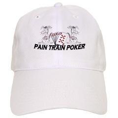848cc5a1f8a Pain Train Poker Cap   Pain Train Poker   Gambling Gal T Shirts hats and  more