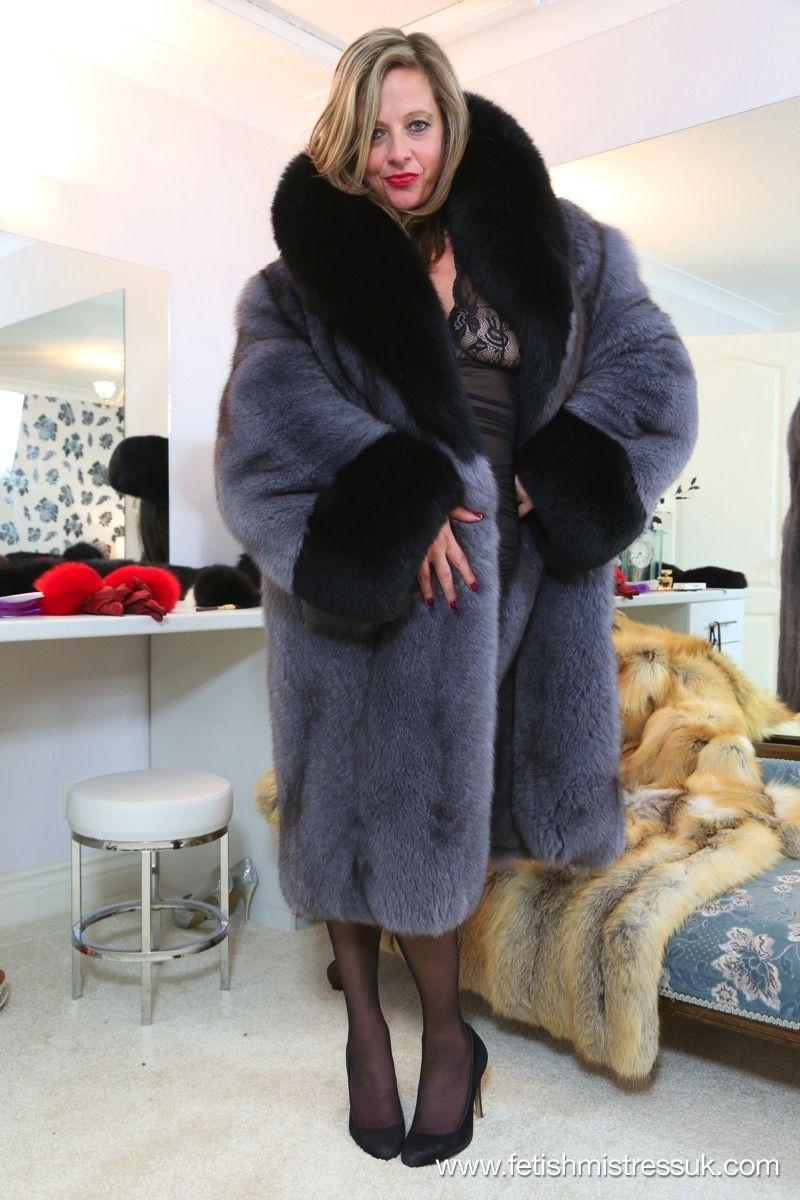 Fur coat fetish video