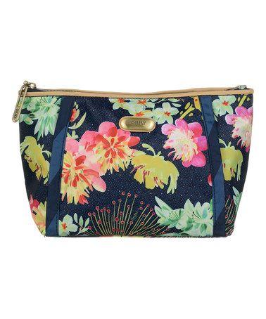 Look what I found on #zulily! Navy Floral Medium Pouch #zulilyfinds