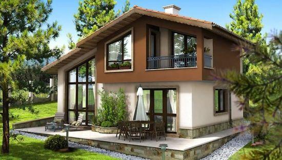 Casa de vis de 125 m2 cu trei dormitoare proiect detaliat for Case de vis mici