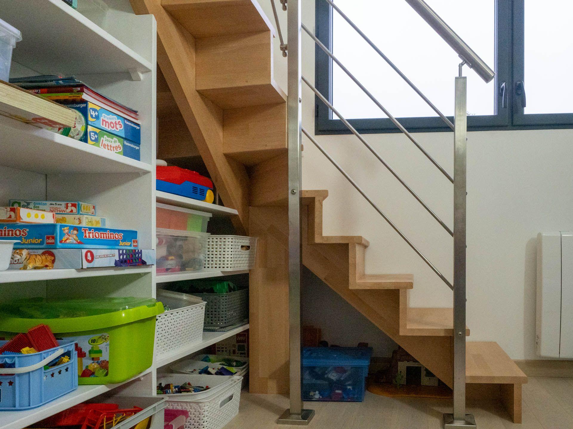 Cet Escalier En Hetre Massif A Ete Realise Par Philippe Avec Les