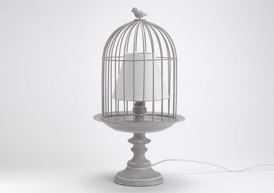 L mpara jaula gris detalles rom nticos pinterest for Muebles romanticos blancos