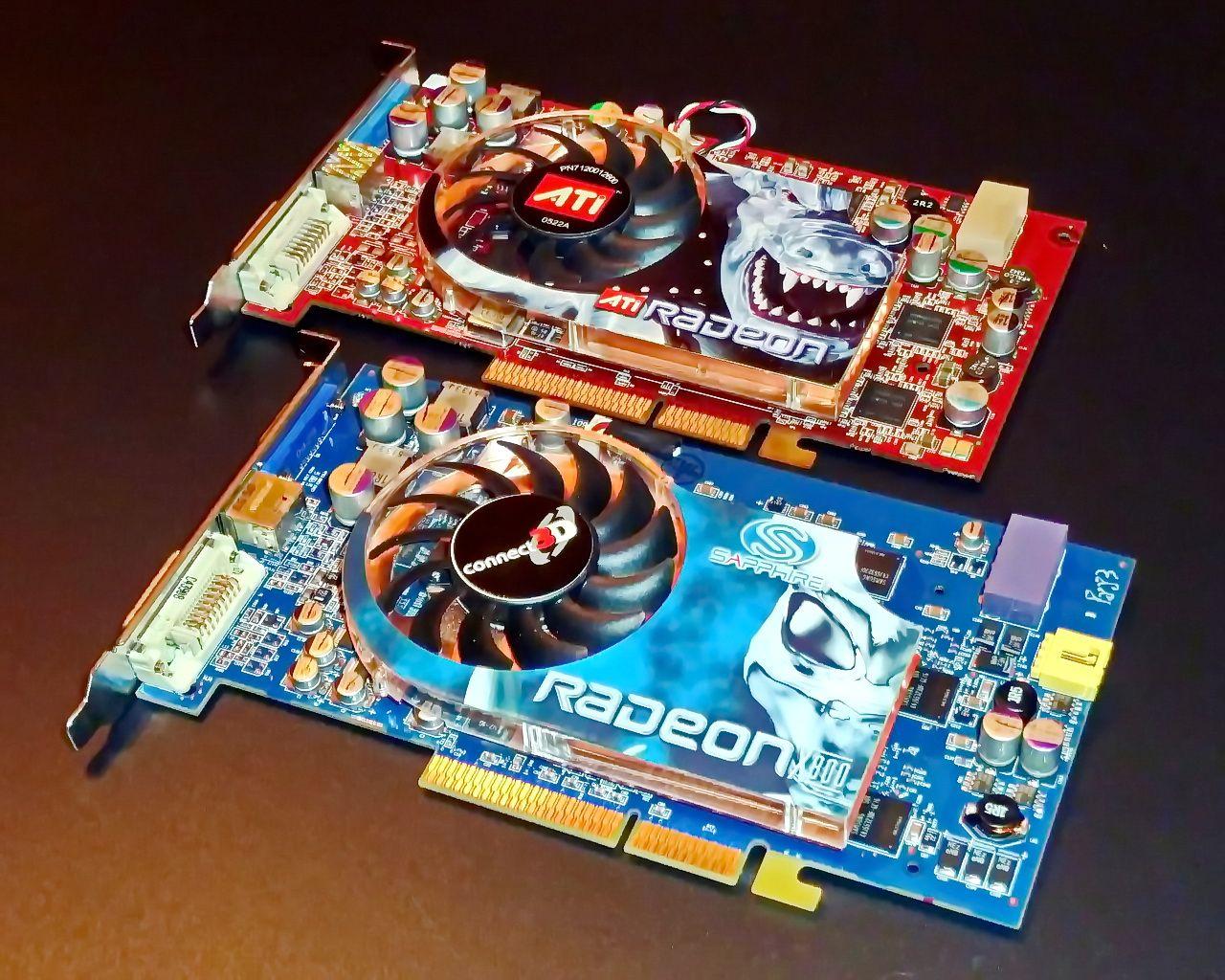 ATI AGP Cards Radeon 9800XT X800XT PE