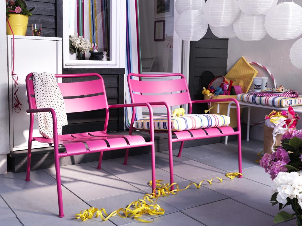 party patio take your summer celebrations outside with stackable outdoor furniture that is perfect for small - Garden Furniture 2014 Uk