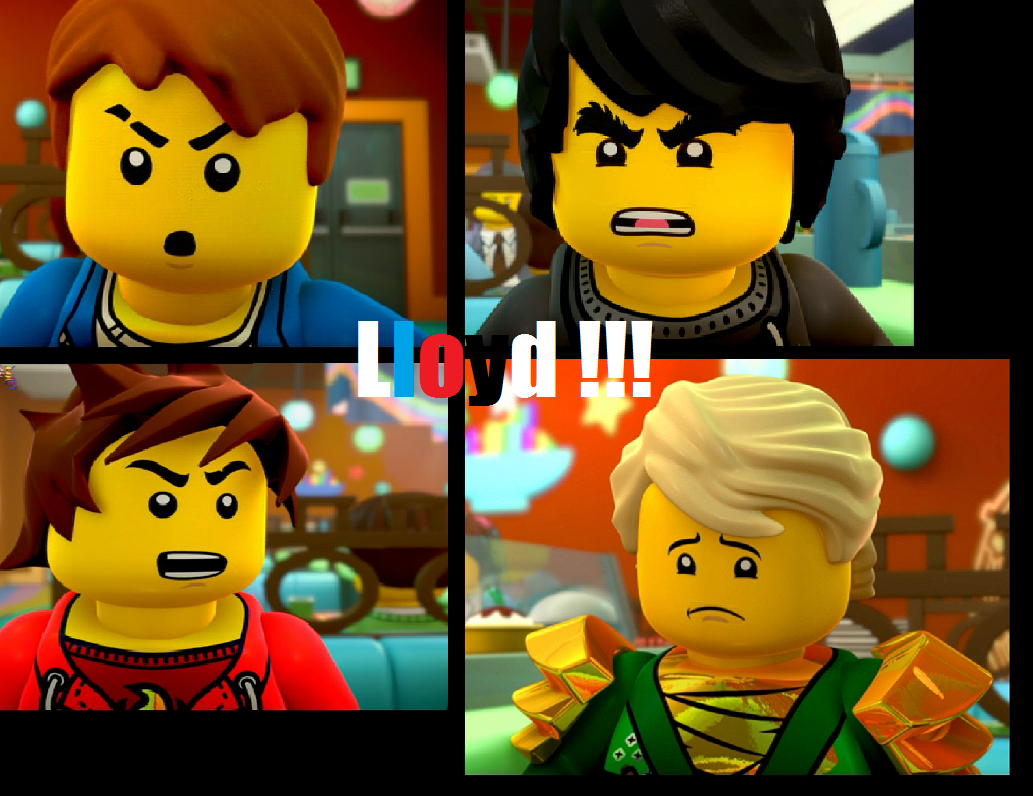Lloyd hey he 39 s just trying to get the band back together again chill the spinjitzu out - Ninjago lloyd and kai ...