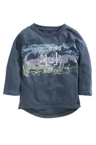 Buy Blue Long Sleeve Slogan T-Shirt (3mths-6yrs) online today at Next: Israel