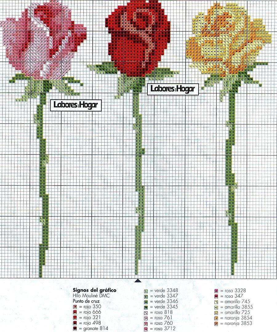 Point de Croix : Patron Fleur 12 dans Fleurs 080127111258178861653095 | Kanaviçe tasarımları ...