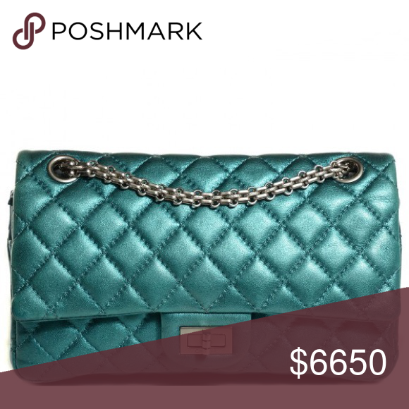 426d6709bd69 SALE 12/27: CHANEL 2.55 Turquoise Reissue Sz: 227 From my personal  collection