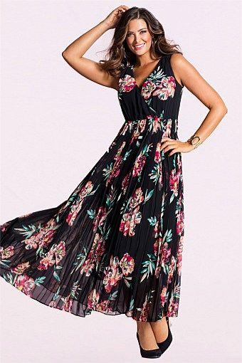 Dresses - Sara Print Pleat Maxi Dress  06117eda0