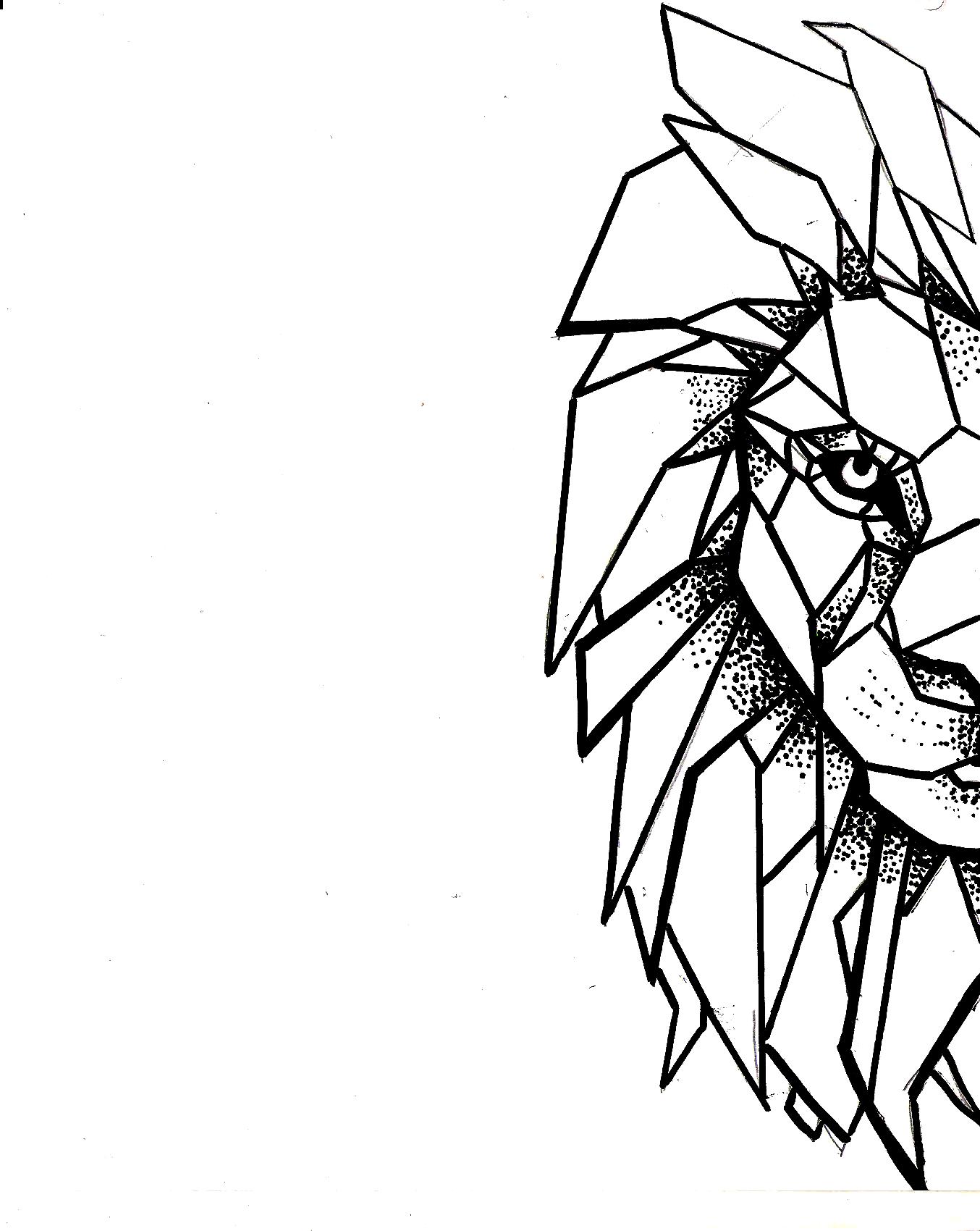 No Soy De Ti Ni De Nadie Lion Leon Geometric Geometrico Dibujo Pen Draw Idea Savage King Selva M Leao Geometrico Desenho Geometrico Leao Desenho