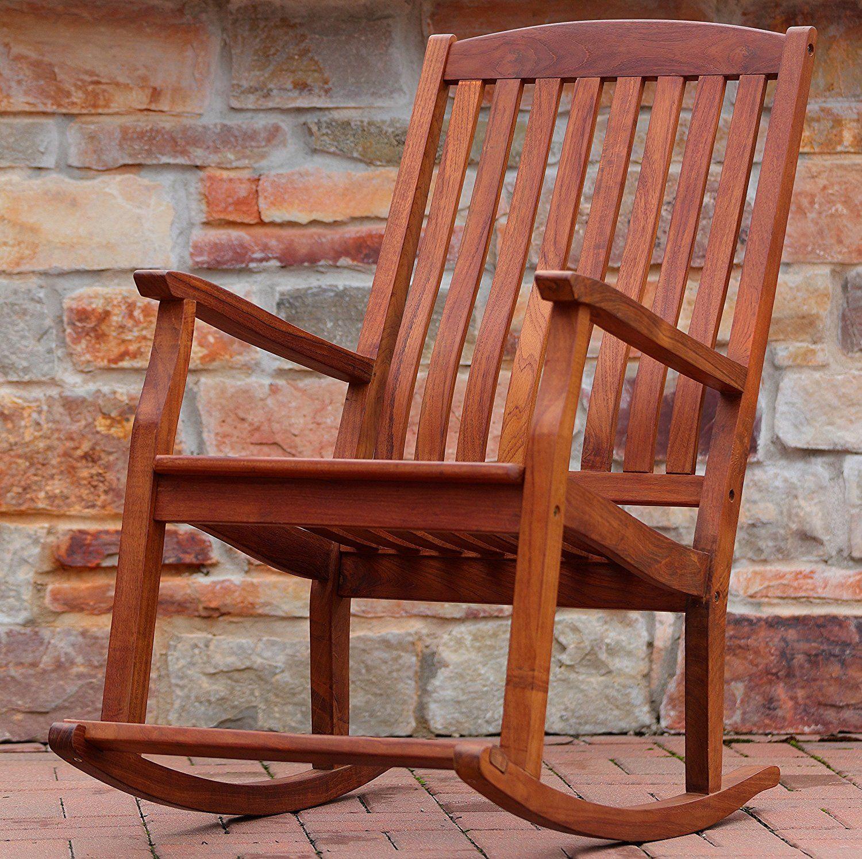 Bare decor large rocking chair in teak wood