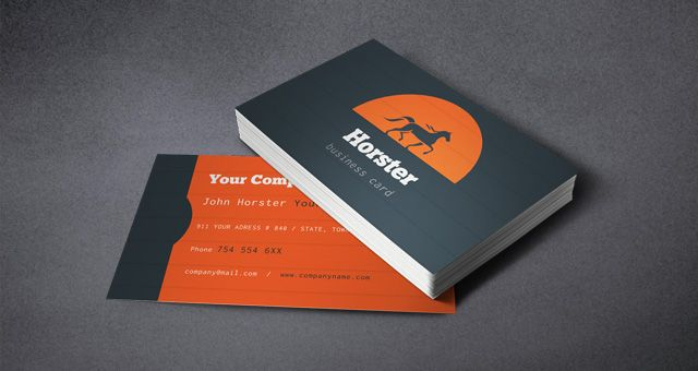 Horster industrial design business card templates, available for ...
