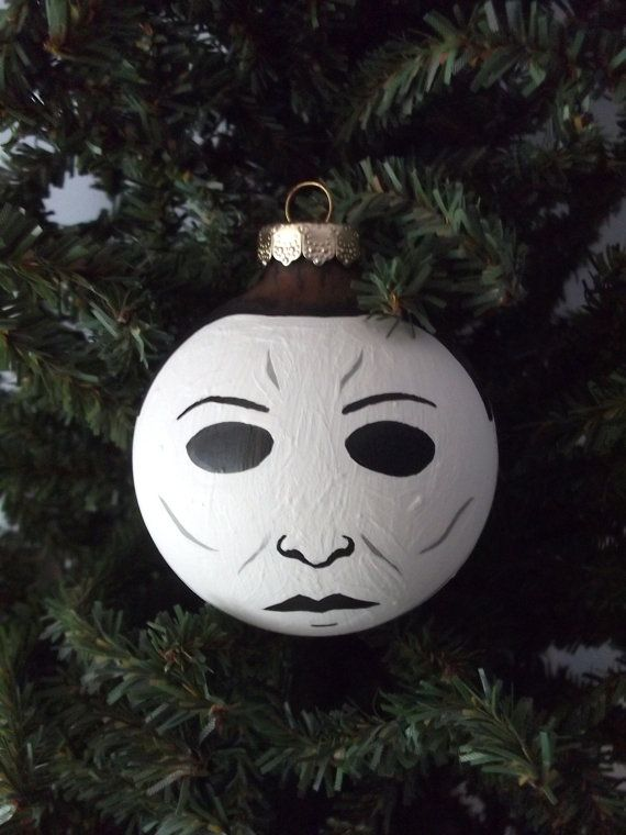 Michael Myers Halloween Hand Painted Holiday ornament - Michael Myers Halloween Hand Painted Holiday Ornament Xmas