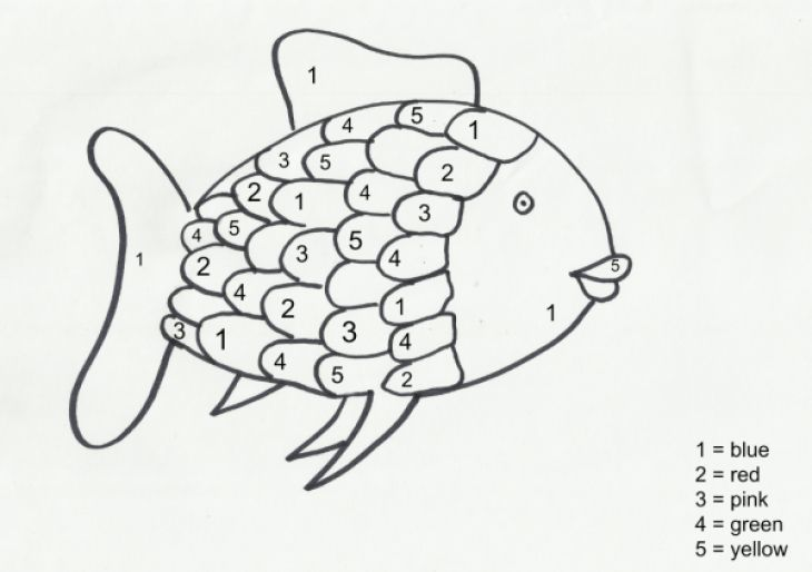 Fun Color By Number Rainbow Fish Coloring Page For Preschoolers Letscolorit Com Rainbow Fish Activities Rainbow Fish Rainbow Fish Coloring Page
