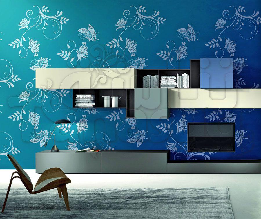 خلفية جدران فراشات وزهور Home Decor Decals Decor Home