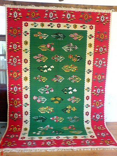 Handmade Romanian Traditional Rug