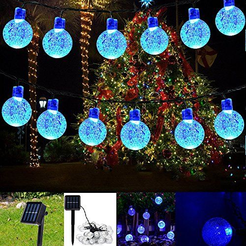 Decorative Ball Lights Solar String Light Garland 30Led Fairy String Lights Bubble