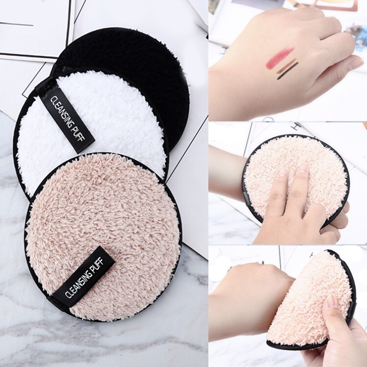 Midnight Black Oval Reusable Ultra Soft Makeup Remover Pad