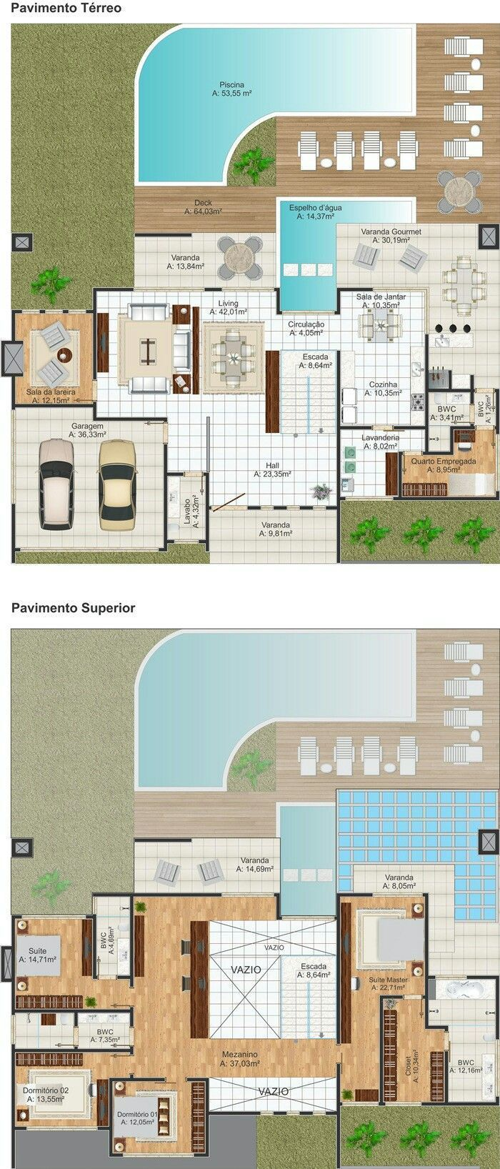 Architect Design Two Story Houses Master Suite