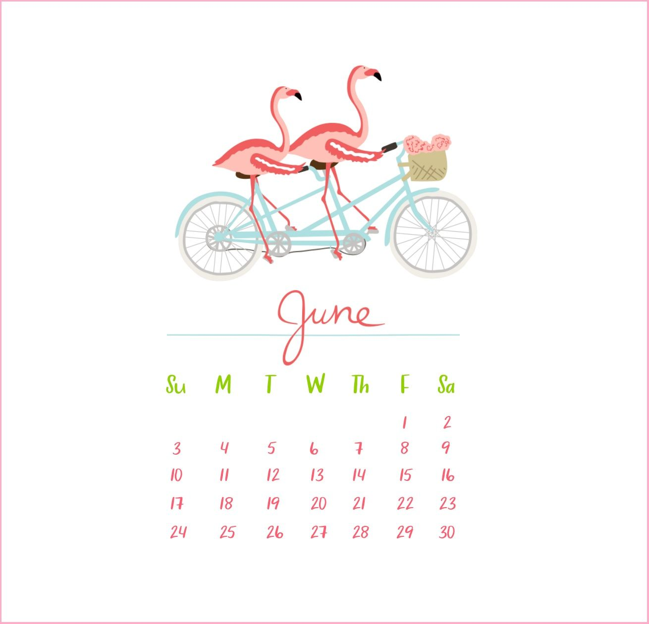 June 2018 Iphone Calendar Wallpaper Calendar Wallpaper