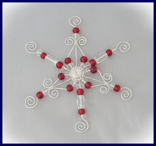 Make Your Own Wire And Bead Christmas Ornaments Christmas Bead