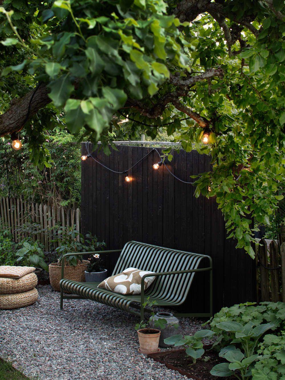 Every Inch Of This Swedish Home Is Full Of Scandinavian Design Inspiration Scandinavian Garden Small Garden Landscape Outdoor Garden Lighting
