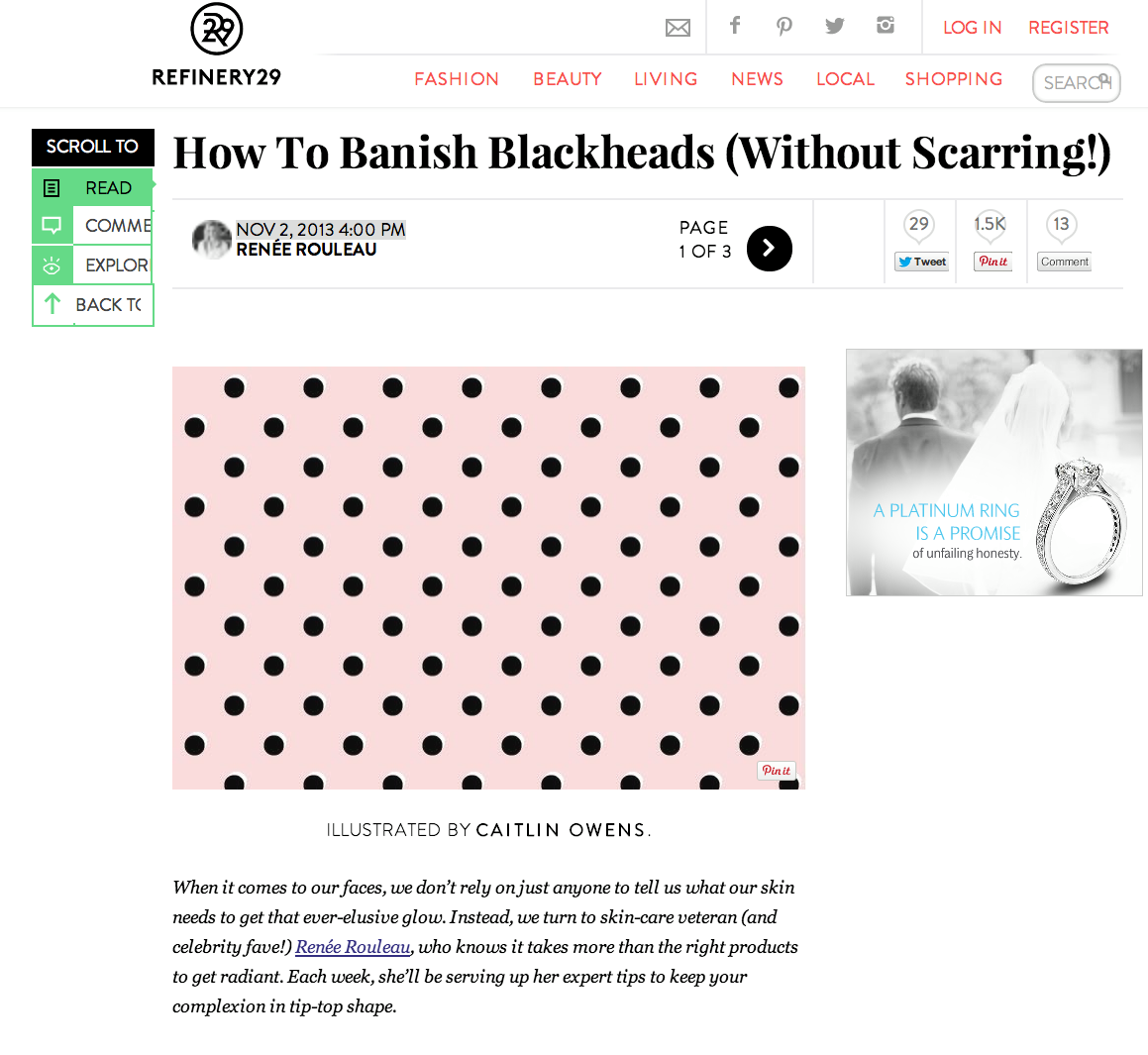 Renée Shared KEY Ways To Get Rid Of Blackheads With